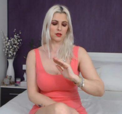 russian model in red dress